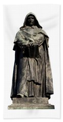 Hand Towel featuring the photograph Giordano Bruno by Fabrizio Troiani