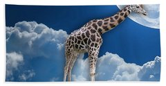 Giraffe Flying High Hand Towel