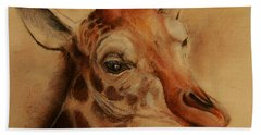 Giraffe Hand Towel by Jean Cormier