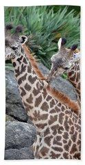 Giraffe Massage Bath Towel by Richard Bryce and Family