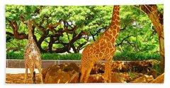 Giraffes Hand Towel