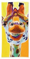 Giraffe - Sunflower Bath Towel
