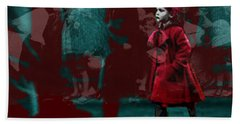 Girl In The Blood-stained Coat Bath Towel by Seth Weaver
