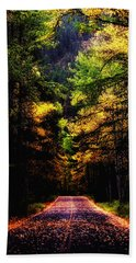 Glacier Fall Road Hand Towel