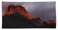 Glacier Sunrise Hand Towel