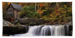 Glade Creek Grist Mill - Photo Bath Towel by Chris Flees