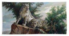 Glamorous Friendship- Snow Leopards Hand Towel