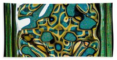 Glass Block Abstract 3 Hand Towel by Dee Dee  Whittle