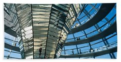 Glass Dome Reichstag Berlin Germany Hand Towel by Panoramic Images