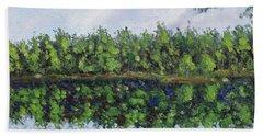 Glenoak Lake Bath Towel by Jason Williamson