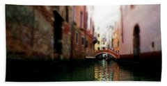 Gliding Along The Canal  Hand Towel