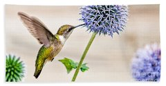 Globe Thistle Hummer Hand Towel