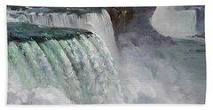 Gloomy Day At Niagara Falls Bath Towel