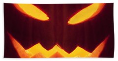 Glowing Pumpkin Hand Towel