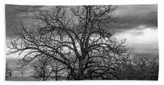 Bath Towel featuring the photograph Gnarly Tree by Sennie Pierson