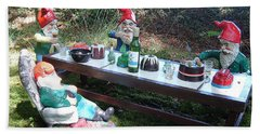 Gnome Cooking Bath Towel