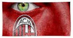 Go Ac Milan Hand Towel by Semmick Photo