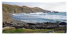 Goat Rock State Beach On The Pacific Ocean Near Outlet Of Russian River-ca  Bath Towel