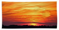 God Paints The Sky Bath Towel by Cynthia Guinn