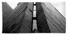 Goddard Stair Tower - Black And White Bath Towel by Joseph Skompski