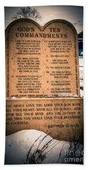God's Ten Commandments Hand Towel
