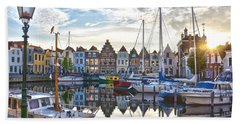Bath Towel featuring the photograph Goes Harbour by Frans Blok