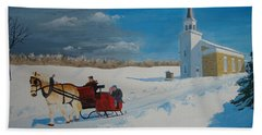 Going Home From Church Bath Towel by Norm Starks