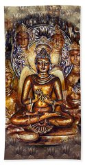Gold Buddha Bath Towel
