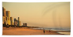 Bath Towel featuring the photograph Gold Coast Beach by Eric Tressler