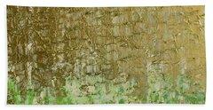 Gold Sky Green Grass Hand Towel