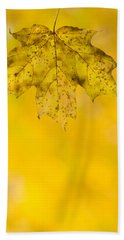 Bath Towel featuring the photograph Golden Autumn by Sebastian Musial