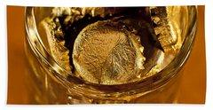 Bath Towel featuring the photograph Golden Beer  Mug  by Wilma  Birdwell