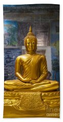 Golden Buddha In Sri Lanka Hand Towel