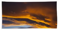Golden Clouds Over Sierras Hand Towel