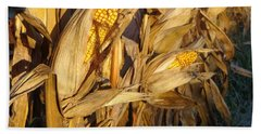 Bath Towel featuring the photograph Golden Corn by Joseph Skompski