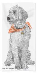 Trash Talking Golden Doodle Hand Towel by Jack Pumphrey