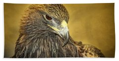 Golden Eagle Portrait Hand Towel