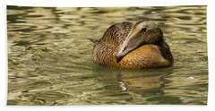 Golden Eider Bath Towel
