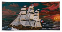 Golden Era Of Sail Hand Towel