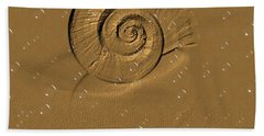 Golden Fantasy. Shell. Abstarct. Beautiful Home Collection 2015 Bath Towel