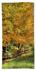 Hand Towel featuring the photograph Golden Fenceline by Gordon Elwell