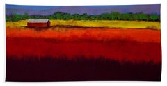 Golden Field Bath Towel by David Patterson