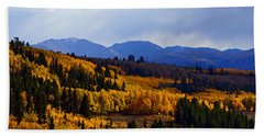 Golden Fourteeners Bath Towel by Jeremy Rhoades
