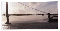 Golden Gate And Bay Bridge Hand Towel