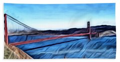 Windy Day At Golden Gate Bridge Bath Towel