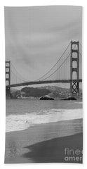 Golden Gate Bridge And Beach Bath Towel
