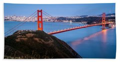 Golden Gate Bridge Hand Towel by Mihai Andritoiu