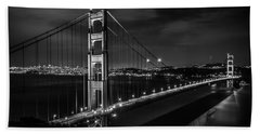 Golden Gate Evening- Mono Bath Towel