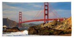 Golden Gate From The Beach Bath Towel