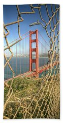 Golden Gate Through The Fence Hand Towel